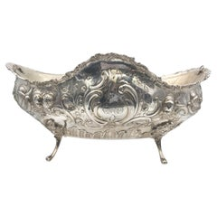 Continental Silver Centerpiece with Cherubs, Circa 1900