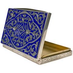 Continental Silver Enamel Box, circa 1920