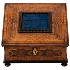 Continental Style Inlaid Lace Maker's Box, circa 1720s