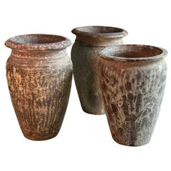 Continental Terracotta Garden Urns Reclaimed Distressed Outdoor Planters