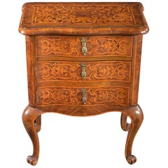 Continental Walnut and Satinwood Marquetry Cabinet