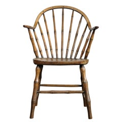 Continuous Arm Yealmpton Windsor Chair, English, Armchair, Original Paint, 1820s