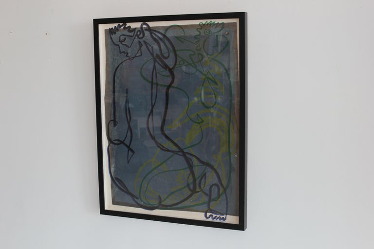 American Continuous Line Drawing by Jean Negulesco For Sale