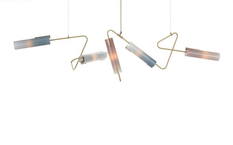 Modern Continuum Collection Chandelier 85 by Avram Rusu Studio For Sale