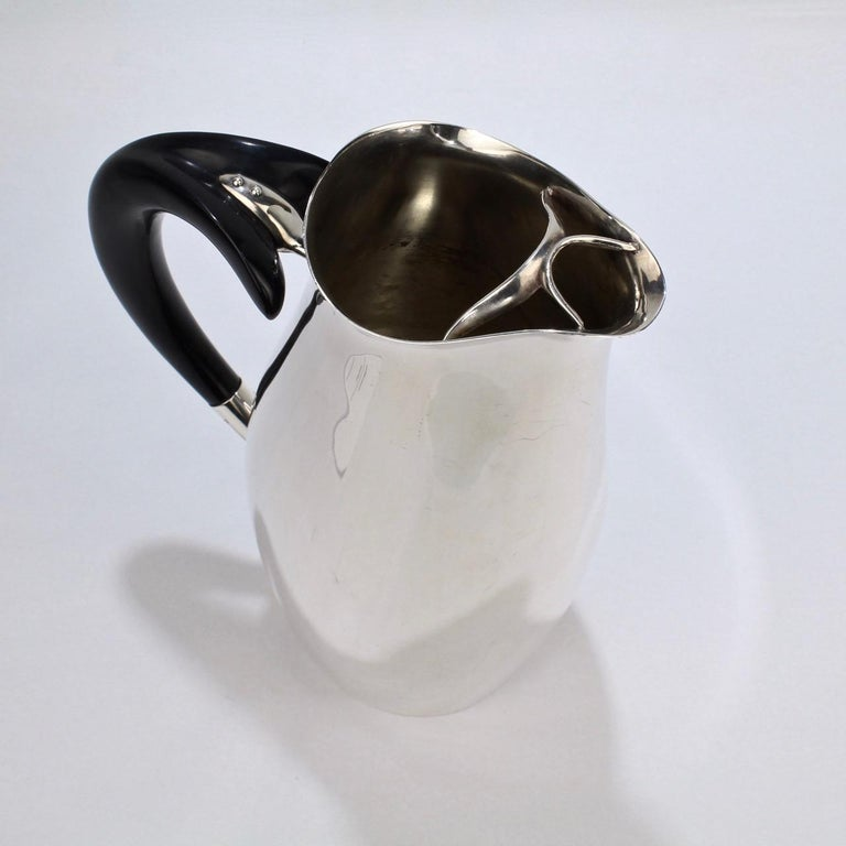 Contour Silver Plated Cocktail Pitcher by Robert King & John Van Koert for Towle For Sale 5