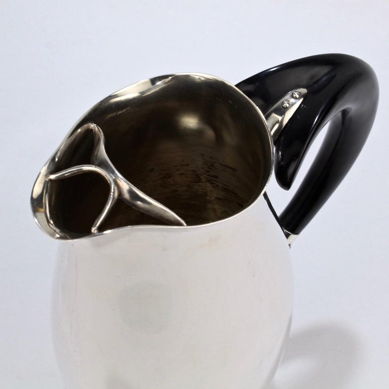 Contour Silver Plated Cocktail Pitcher by Robert King & John Van Koert for Towle For Sale 7