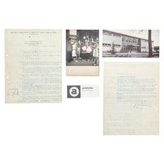 Contract of Matégot & Artimeta, 1953