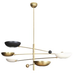 Contrapesi Midcentury Style Brass and Powder-Coated Cup Pendant