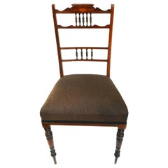 Conversation Chair Made of Elm with Elaborate Inlays circa 1800 Neoclassical