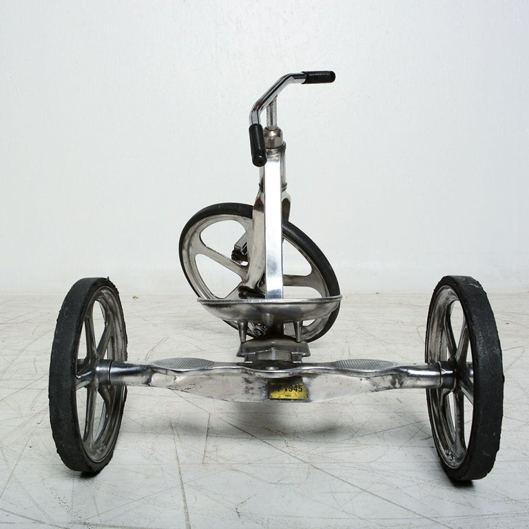 Mid-Century Modern Convert-O Bike Tricycle Anthony Bros Vintage Cast Aluminum California, 1950s For Sale