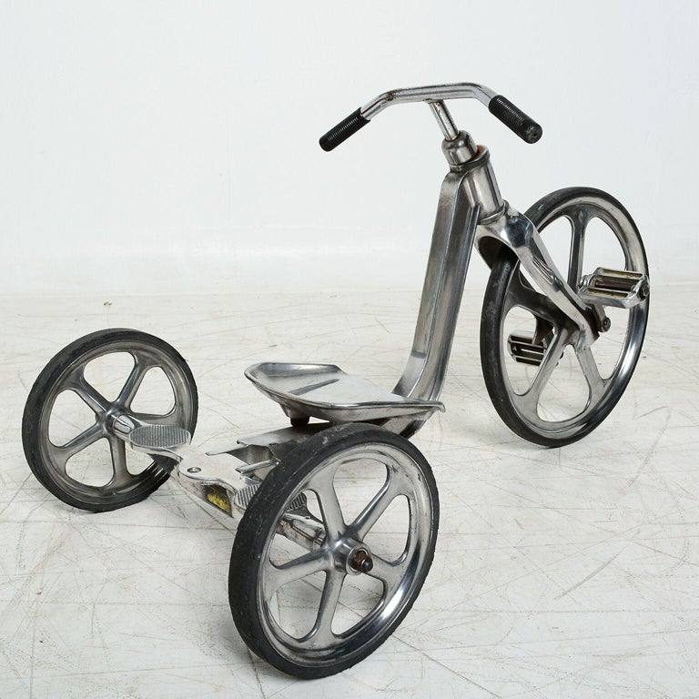 American Convert-O Bike Tricycle Anthony Bros Vintage Cast Aluminum California, 1950s For Sale