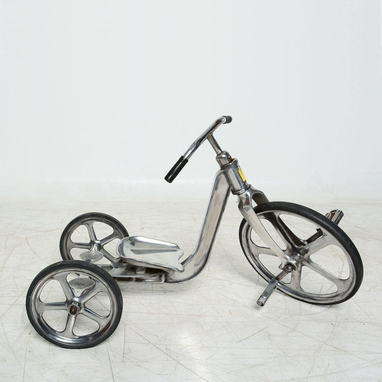 Convert-O Bike Tricycle Anthony Bros Vintage Cast Aluminum California, 1950s In Good Condition For Sale In National City, CA