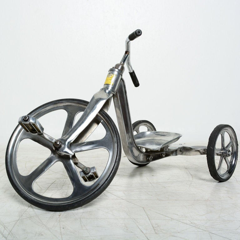 Mid-20th Century Convert-O Bike Tricycle Anthony Bros Vintage Cast Aluminum California, 1950s For Sale