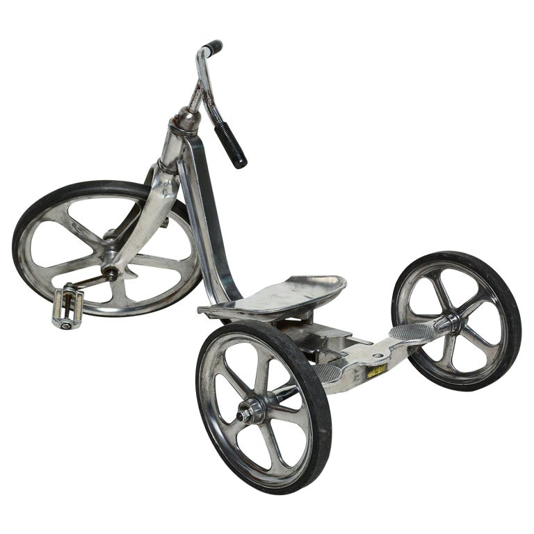 Convert-O Bike Tricycle Anthony Bros Vintage Cast Aluminum California, 1950s For Sale
