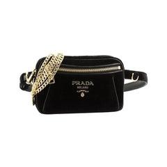 Convertible Belt Bag Velvet Small