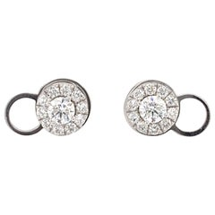Convertible Stud/Halo Diamond Earrings