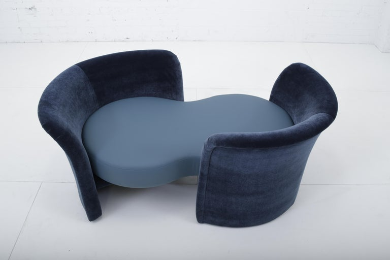 Modern Convertible Tete-a-Tete Settee Sofa, Thayer-Coggin For Sale