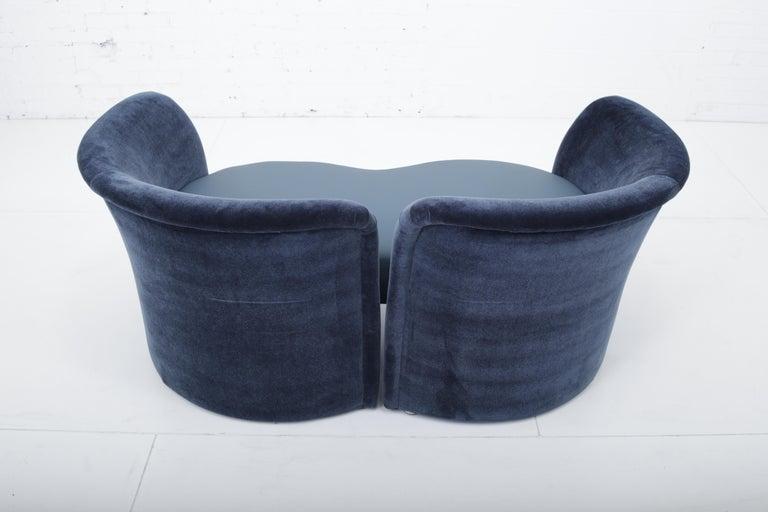 Convertible Tete-a-Tete Settee Sofa, Thayer-Coggin For Sale 1