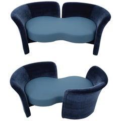 Convertible Tete-a-Tete Settee Sofa, Thayer-Coggin