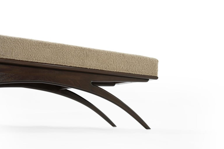 Convex Bench in Natural Bouclé by Stamford Modern For Sale 6