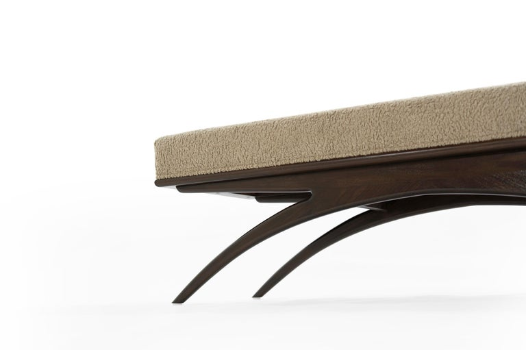 Convex Bench in Natural Bouclé by Stamford Modern For Sale 3