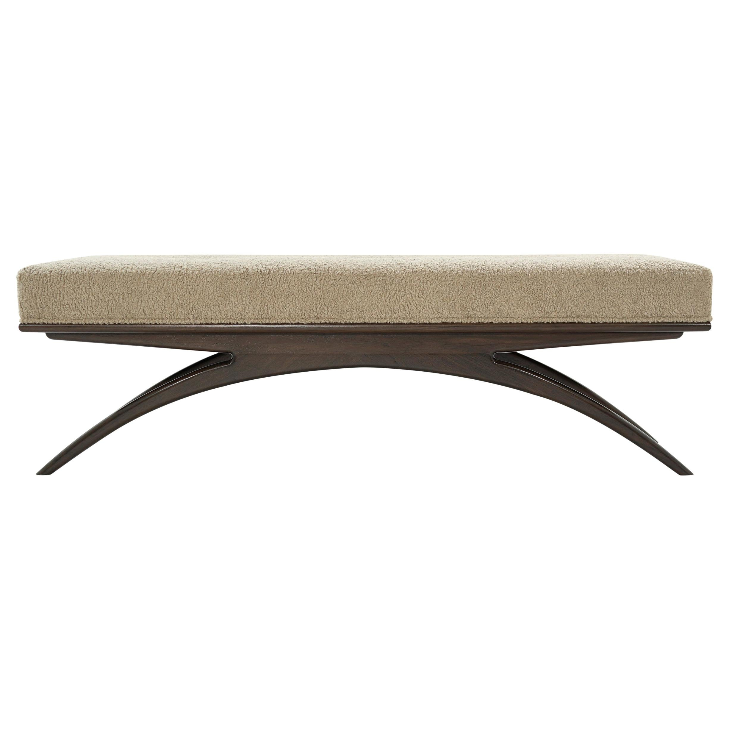 Convex Bench in Natural Bouclé by Stamford Modern