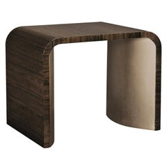 Convex Bronze Side Table