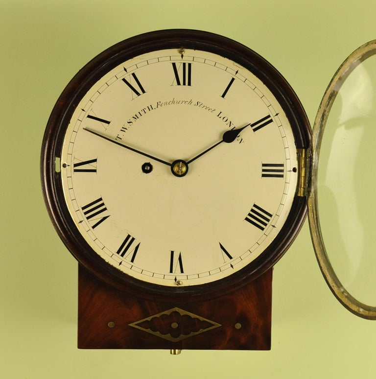 Convex Fusee Dial Clock T W Smith London For Sale At 1stdibs