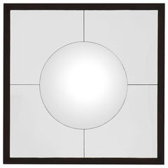 Convex Round Mirror with Bronze Frame