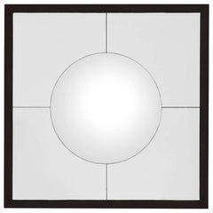 Convex Round Mirror with Bronze Frame