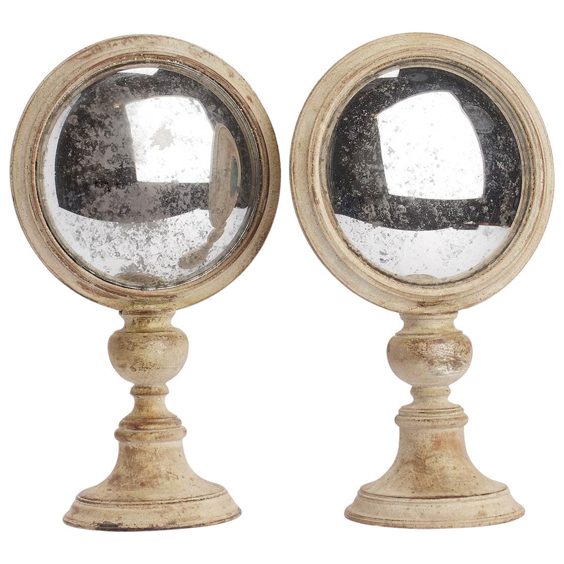 Convex Round Mirrors, Italy, 1870