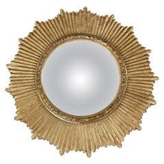 Convex Sunburst Giltwood Wall Mirror