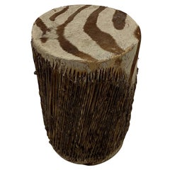 Cool African Zebra Hide Martini Table