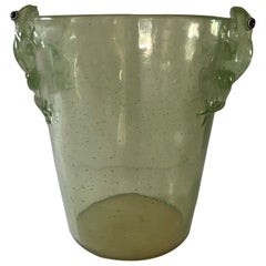 Cool Green Mid-Century Modern Acrylic Ice Bucket with Frogs