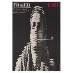 Cool Hand Luke 1967, Czech A3 Film Movie Poster, Grygar