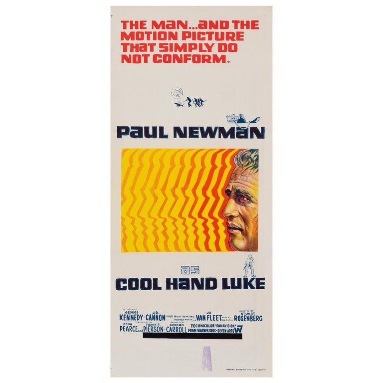 Cool Hand Luke Original Vintage Australian Daybill Movie Poster