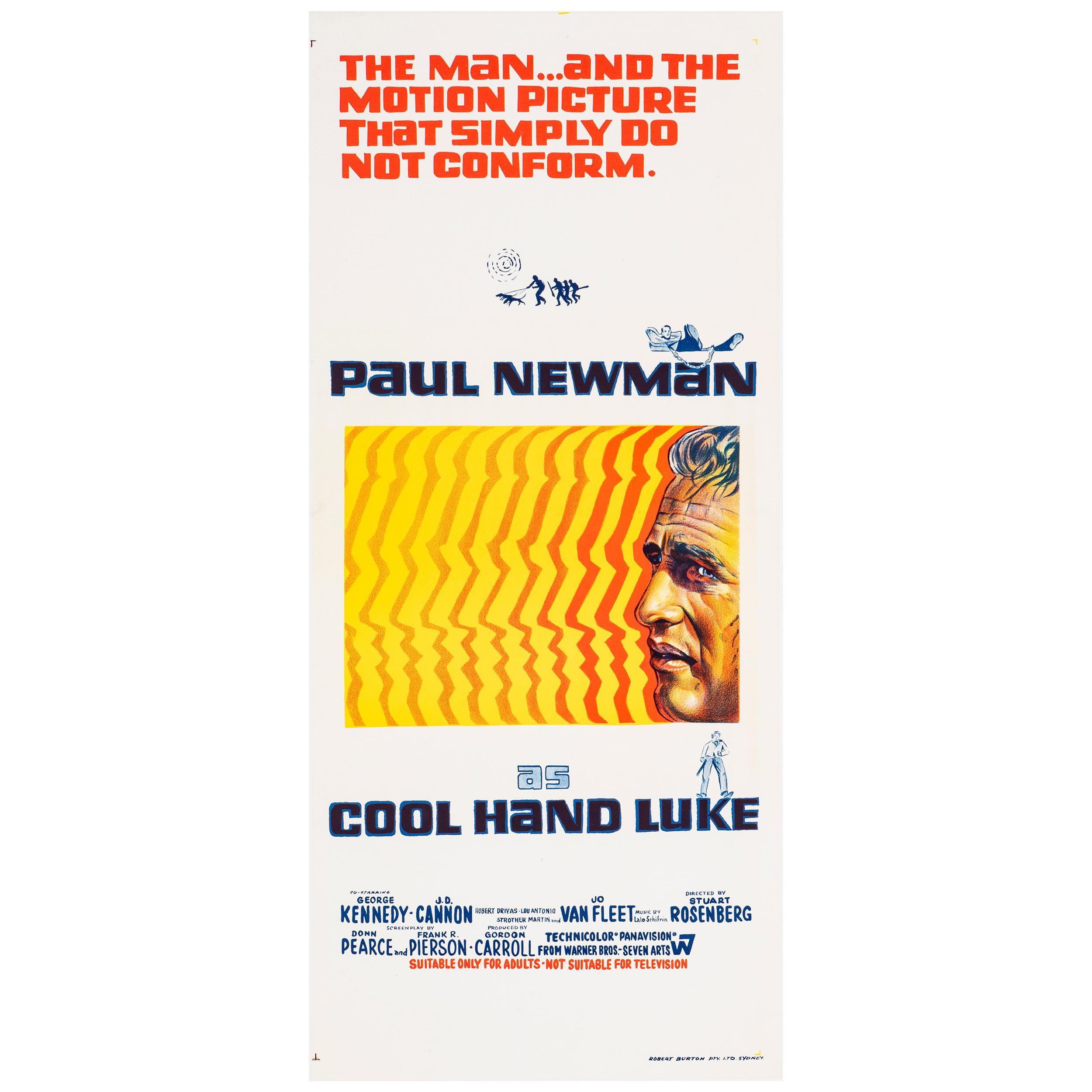 'Cool Hand Luke' Original Vintage Australian Daybill Movie Poster, 1967
