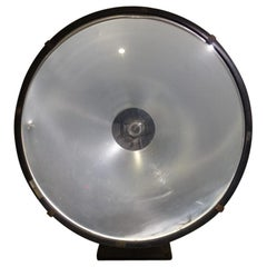 Cool Large French Floodlight / Projector Lamp, Mazda, Early 20th Century