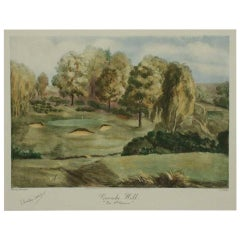 Coombe Hill Golf Club, the 9th Green, Golf Print, Bromley Daveport