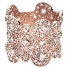 Coomi 20 Karat Rose Gold Eternity Diamond Ring