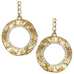Coomi 20K Open Serenity Large Flower Diamond Earrings
