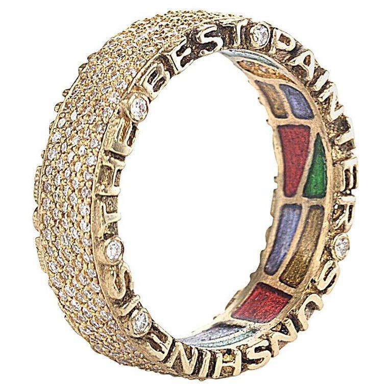 Artisan Coomi 20K Sagrada Pavé Diamond Band Ring For Sale