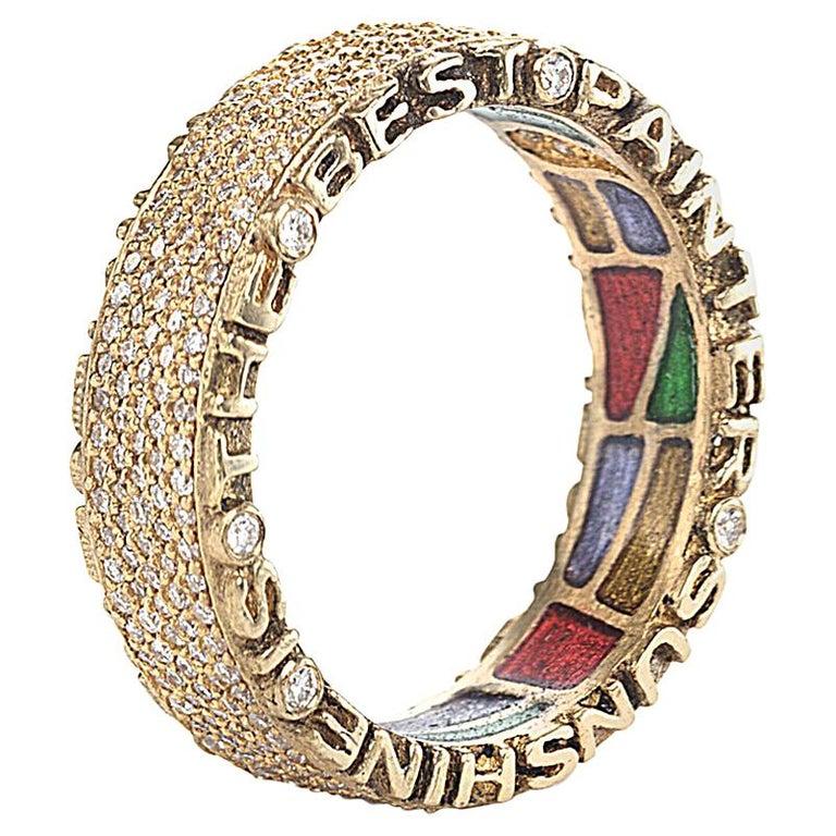 Coomi 20K Sagrada Pavé Diamond Band Ring For Sale