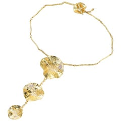 Coomi 20K Serenity Cactus Flower Diamond Drop Necklace