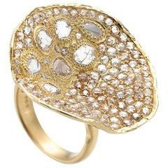 Coomi 20K Serenity Cactus Flower Diamond Ring - Large