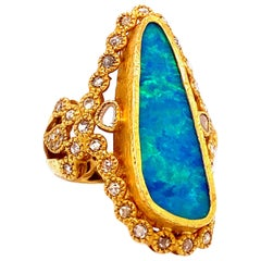 Coomi Affinity Australian Opal Ring