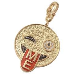 "Coomi ""Me"" Smiley Pendant Set in 20 Karat Gold"