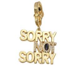 "Coomi ""Sorry Not Sorry"" Pendant Set in 20 Karat Gold"