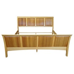 Copeland Furniture Sarah Maple & Cherry King Sleigh Bed Shaker Style