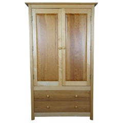 Copeland Furniture Sarah Maple & Cherry Shaker Armoire Entertainment Cabinet